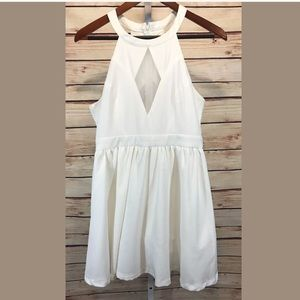 Tea & Cup Dress White Sleeveless Fit n Flare